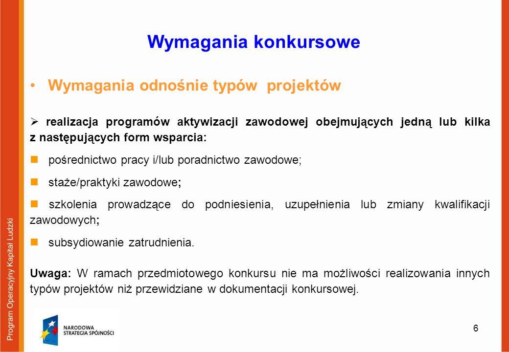 27 Przygotowanie wniosku o dofinansowanie 1.Sporządzony z wykorzystaniem aktualnej aplikacji Generatora Wniosków Aplikacyjnych (wersja 6.4).