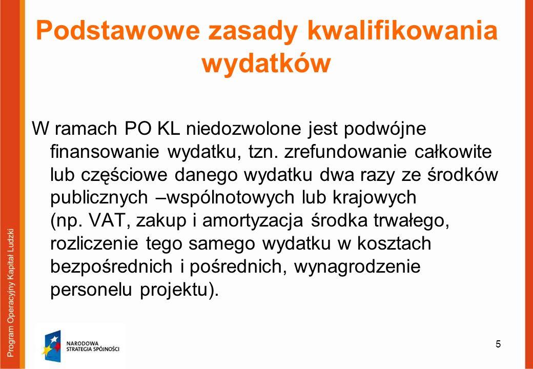 76 Koszty pośrednie rozliczane ryczałtem Przykład ETAP I: Ustalenie całkowitej wartości projektu Koszty bezpośrednie projektu = 495 500 zł.