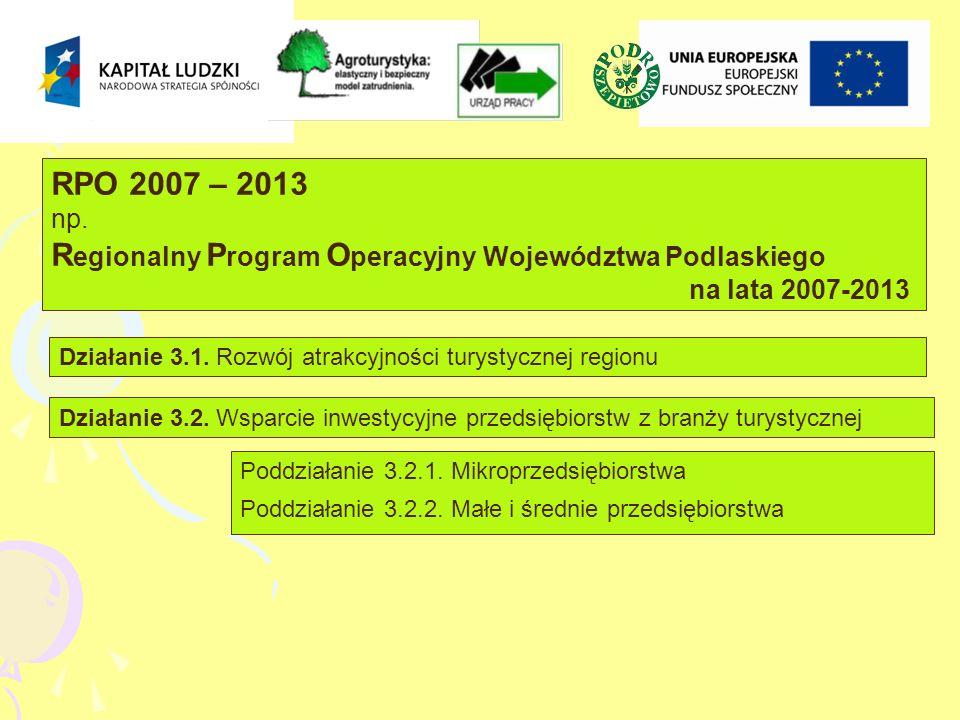 RPO 2007 – 2013 np.