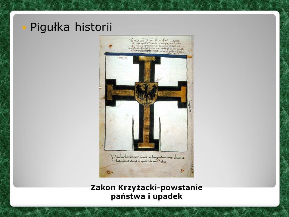 Pigułka historii Zakon Krzyżacki-powstanie państwa i upadek
