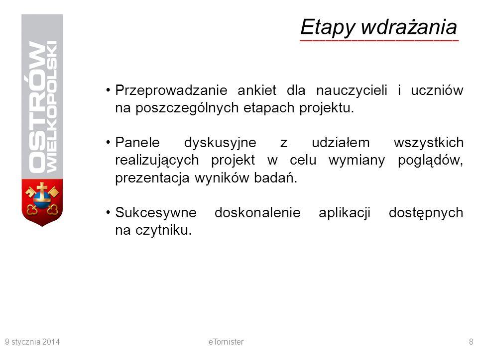 9 stycznia 2014eTornister9 PLUSY i MINUSY użytkowania e-czytników w trakcie procesu nauczania