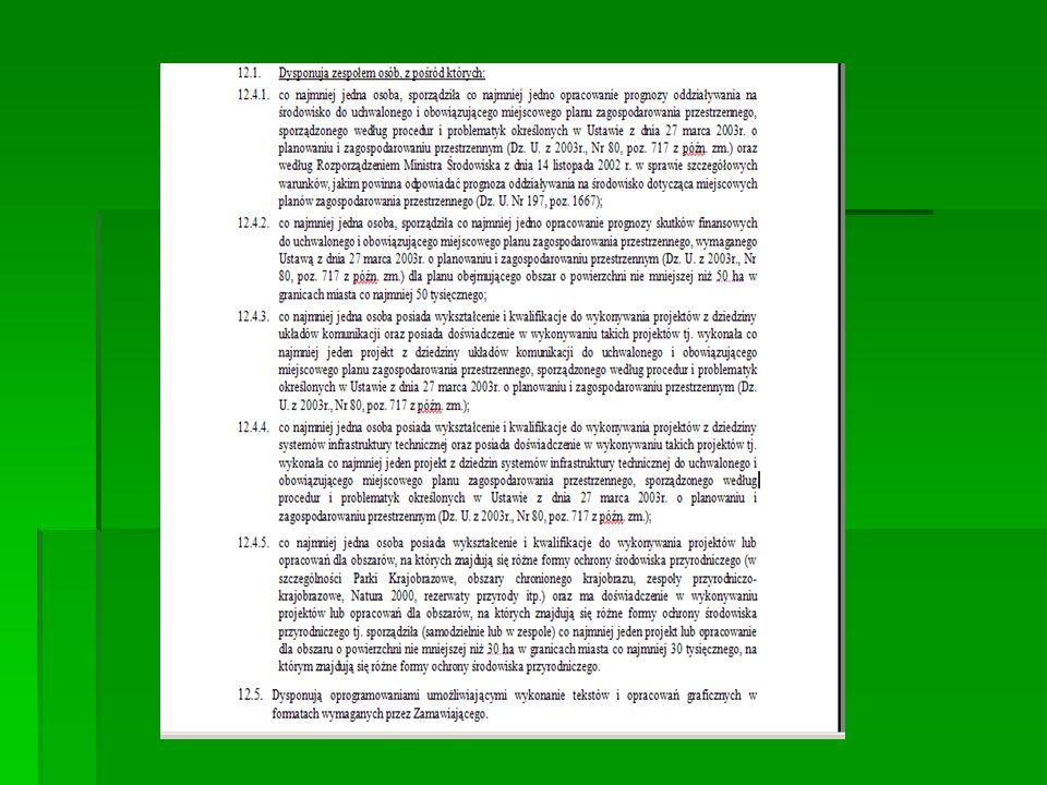 Dokumenty i oświadczenia wymagane w postępowaniu