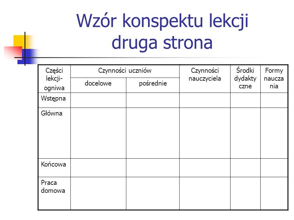 Środki dydaktyczne Środki dydaktyczne dzielą się na: 1)słowne, tj.