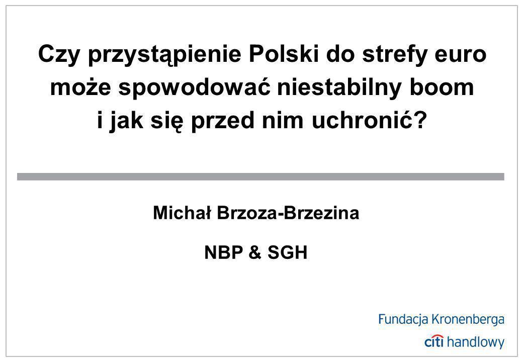 Czy przystąpienie Polski do strefy euro może spowodować niestabilny boom i jak się przed nim uchronić.