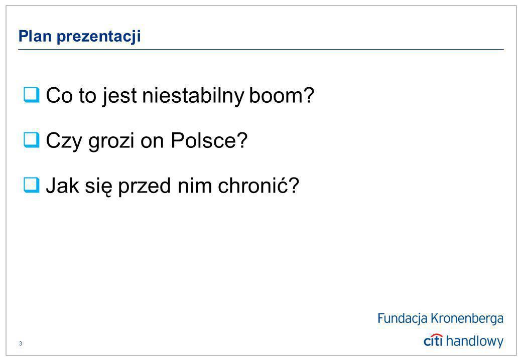 3 Plan prezentacji Co to jest niestabilny boom Czy grozi on Polsce Jak się przed nim chronić