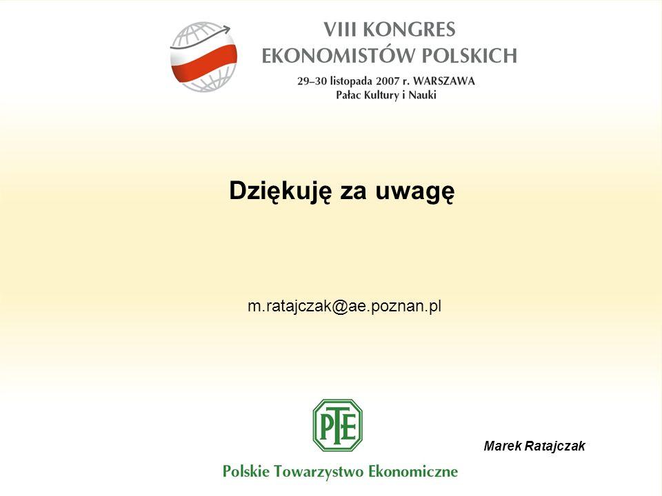 Marek Ratajczak Dziękuję za uwagę m.ratajczak@ae.poznan.pl