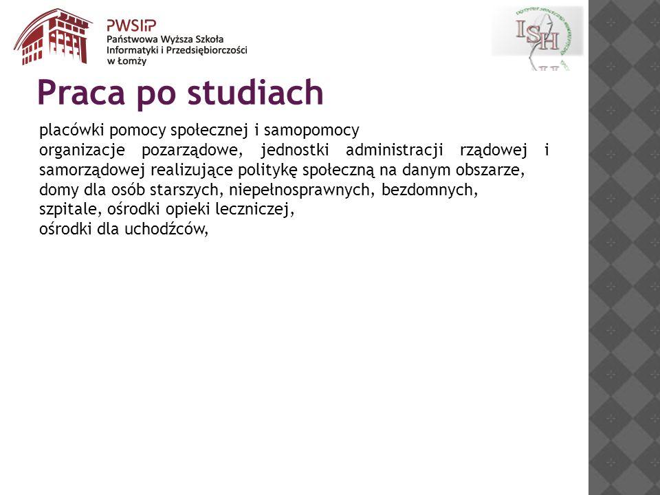 instytucje zajmujące się przeciwdziałaniu bezrobociu i wykluczeniu społecznemu np.