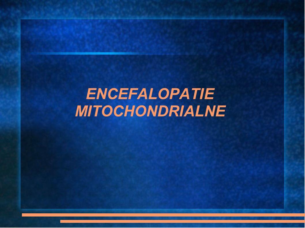 Zespół Kernes - Sayre Kryteria diagnostyczne : CPEO, zwyrodnienie barwnikowe siatkówki, ataksja, blok przewodzenia w sercu lub podwyższenie stężenia białka w PMR; zachorowanie przed 20 rż Często we wczesnym dzieciństwie ciężka anemia, która ustępuje bez śladu Wraz z postępem choroby pojawia się miopatia proksymalna Największy odsetek mtDNA z delecjami w mięśniach szkieletowych Rokowanie gorsze niż CPEO