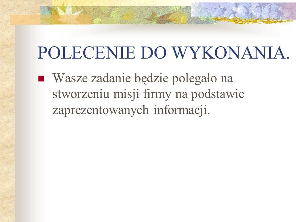 POLECENIE DO WYKONANIA.