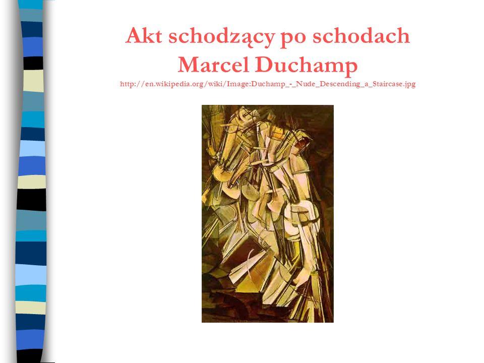 Akt schodzący po schodach Marcel Duchamp http://en.wikipedia.org/wiki/Image:Duchamp_-_Nude_Descending_a_Staircase.jpg