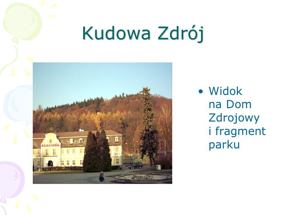 Kudowa Zdrój Widok na Dom Zdrojowy i fragment parku
