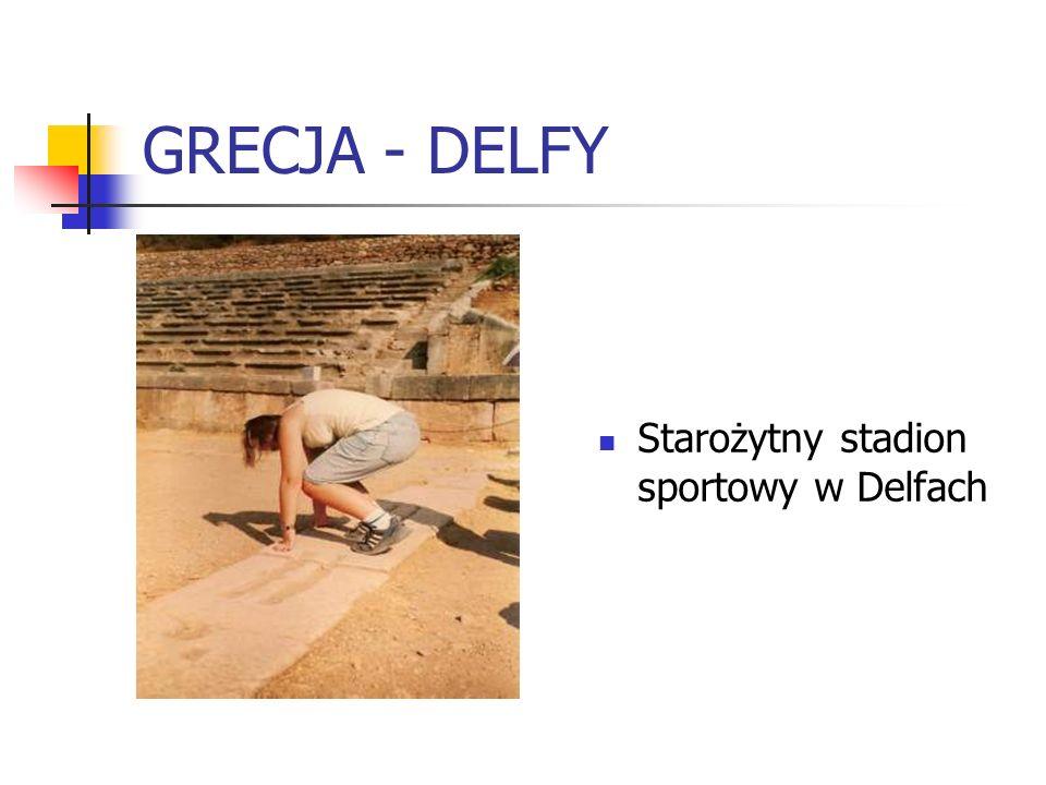 GRECJA - DELFY Starożytny stadion sportowy w Delfach