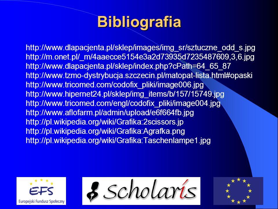 Bibliografia Dziak A., Pierwsza pomoc, PZWL, Warszawa 1990. Goniewicz M., Nowak A.W., Smutek Z., Przysposobienie obronne cz. II, OPERON, Gdynia 2003.