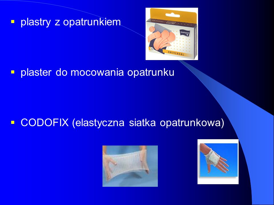 plastry z opatrunkiem plaster do mocowania opatrunku CODOFIX (elastyczna siatka opatrunkowa)