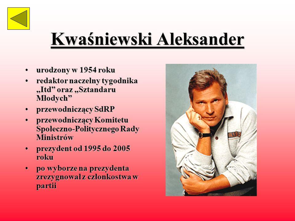 Wałęsa Lech urodzonyurodzony w 1943 roku polityk,polityk, działacz związkowy 19701970 – członek komitetu strajkowego 19801980 – organizator strajku 19