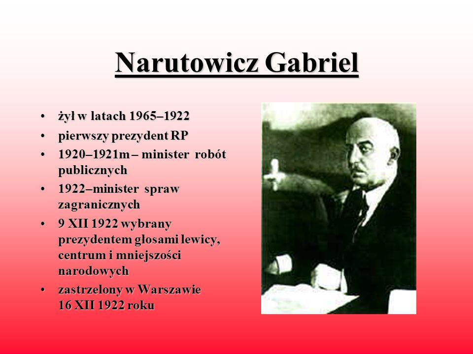 Piłsudski Józef Klemens ps.ps. Wiktor Mieczysław żyłżył w latach 1867–1935 działaczdziałacz niepodległościowy, polityk, marszałek Polski 1905–19071905