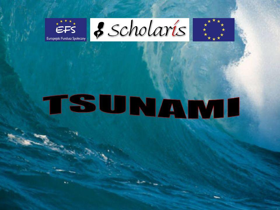 Spis treści Co to jest tsunami Jaka jest ró ż nica mi ę dzy fal ą wiatrow ą a tsunami Gdzie powstaje tsunami.