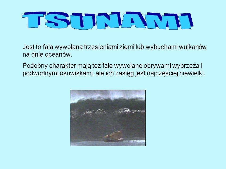 Jaka jest różnica między falą wiatrową a tsunami.