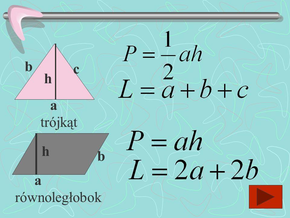 Podaj wzory na obliczanie pola i obwodu : a a a b kwadrat prostokąt
