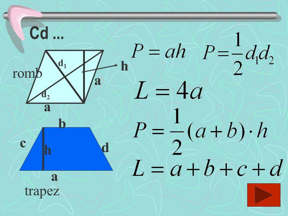 a b c h trójkąt a b h równoległobok