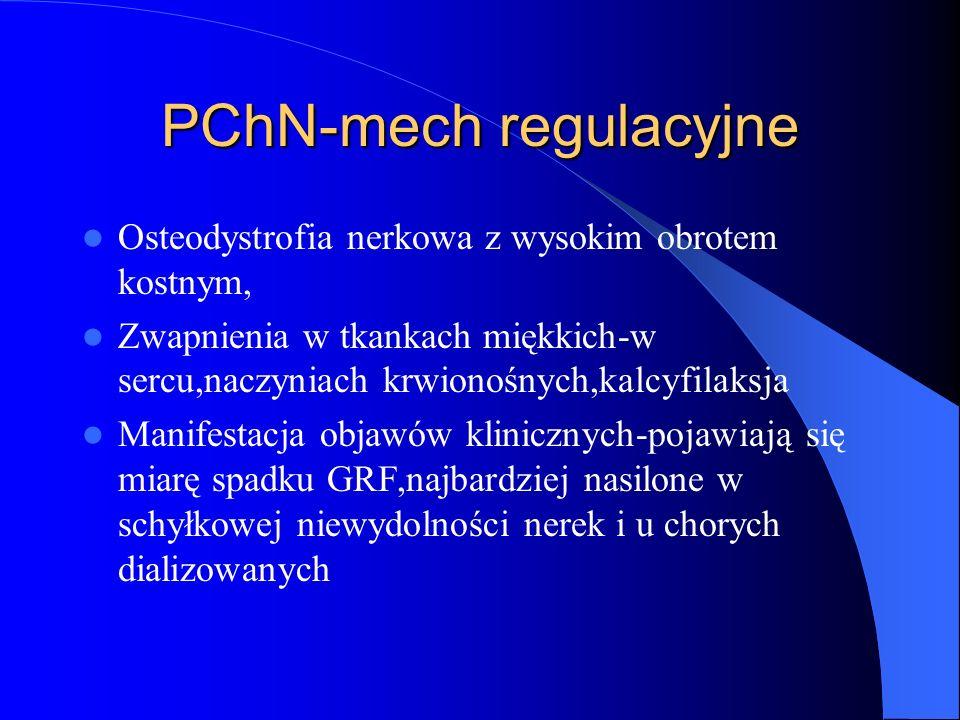 PChN-mech regulacyjne Osteodystrofia nerkowa z wysokim obrotem kostnym, Zwapnienia w tkankach miękkich-w sercu,naczyniach krwionośnych,kalcyfilaksja M