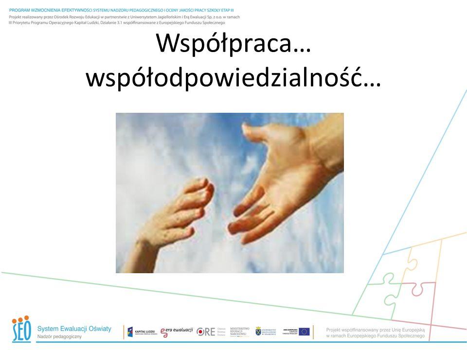Współpraca… współodpowiedzialność…