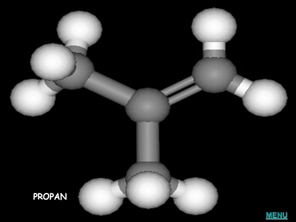 Właściwości węglowodorów nasyconych MODEL PROPANU MODEL PROPANU Mała reaktywność Palność Wszystkie atomy węgla połączone są wiązaniami pojedynczymi ME