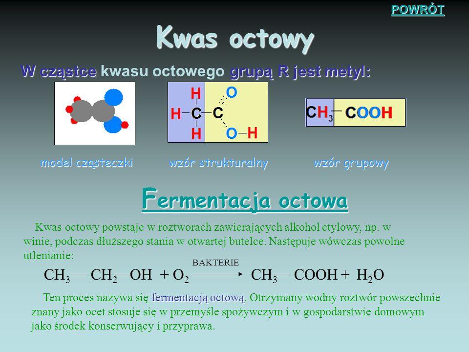 K was mrówkowy model cząsteczkiwzór strukturalny wzór grupowy Kwas o najmniejszej cząsteczce, zwany kwasem mrówkowym zawiera atom wodoru w miejscu gru