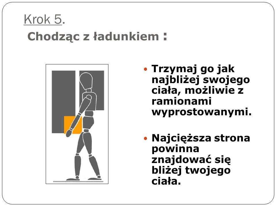 Krok 4: Jesteś gotowy do podniesienia: Trzymaj ramiona w obrębie granicy stworzonej przez twoje nogi. Uchwyt haka jest mniej męczący niż z prostymi pa