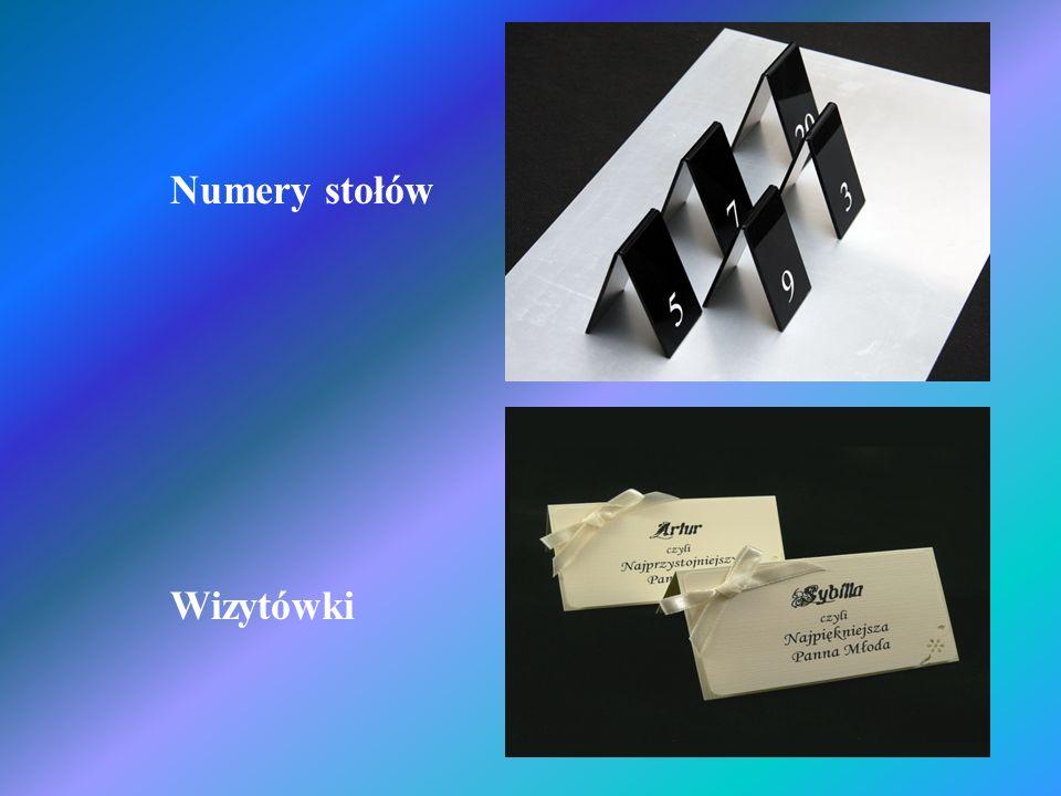 Numery stołów Wizytówki
