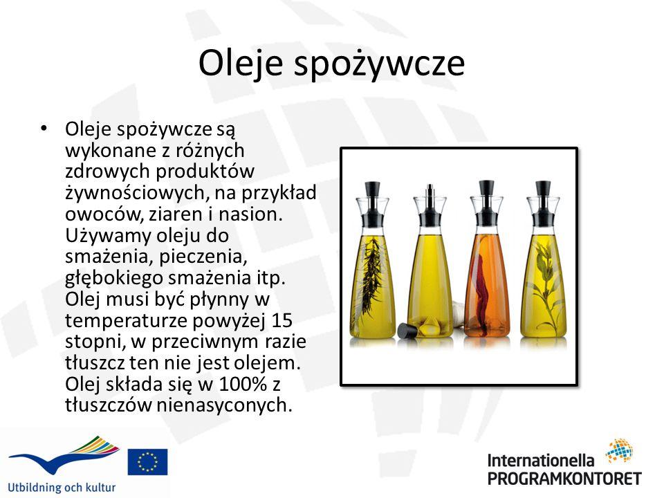 Oliwa z oliwek Oliwa produkowana jest z wyciskanych oliwek.