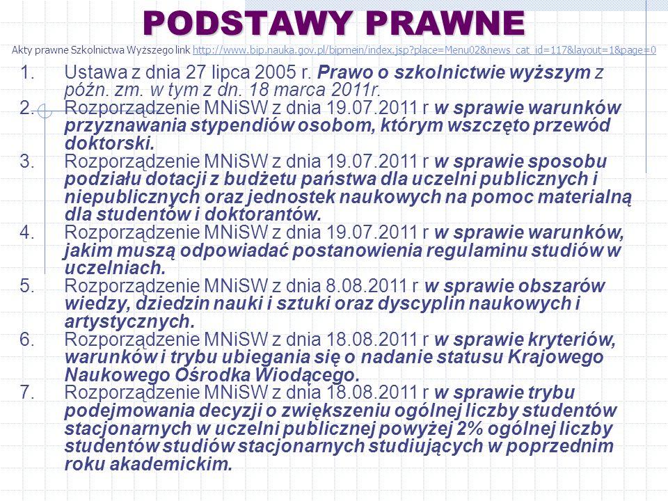 8.Rozporządzenie MNiSW z dnia 01.09.2011r.
