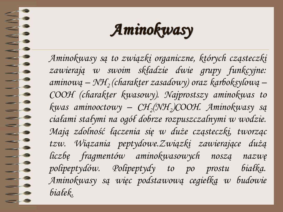 Aminy Aminy są pochodnymi amoniaku a równocześnie węglowodorów. Wzór ogólny aminów: R – NH 2, gdzie R to alkil, a NH 2 to grupa aminowa. Podobnie jak