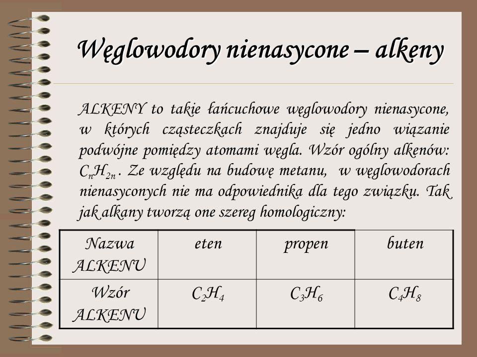 Właściwości alkanów Wraz ze wzrostem długości łańcucha węglowego maleje lotność i palność związków. Właściwości większości alkanów: - stan skupienia (