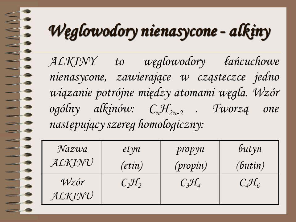 Węglowodory nienasycone – alkeny ALKENY to takie łańcuchowe węglowodory nienasycone, w których cząsteczkach znajduje się jedno wiązanie podwójne pomię