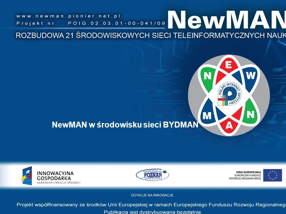 NewMAN w środowisku sieci BYDMAN
