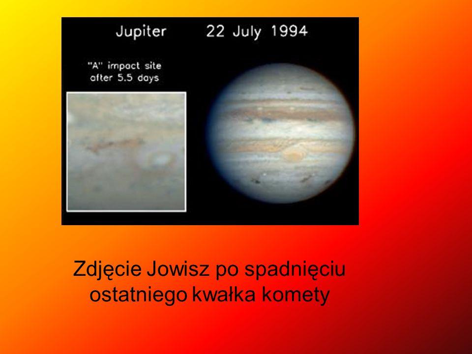 Zdjęcie Jowisz po spadnięciu ostatniego kwałka komety