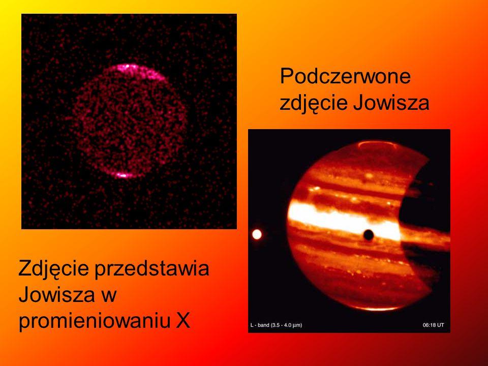 Zdjęcie przedstawia Jowisza w promieniowaniu X Podczerwone zdjęcie Jowisza