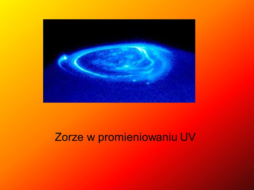 Zorze w promieniowaniu UV