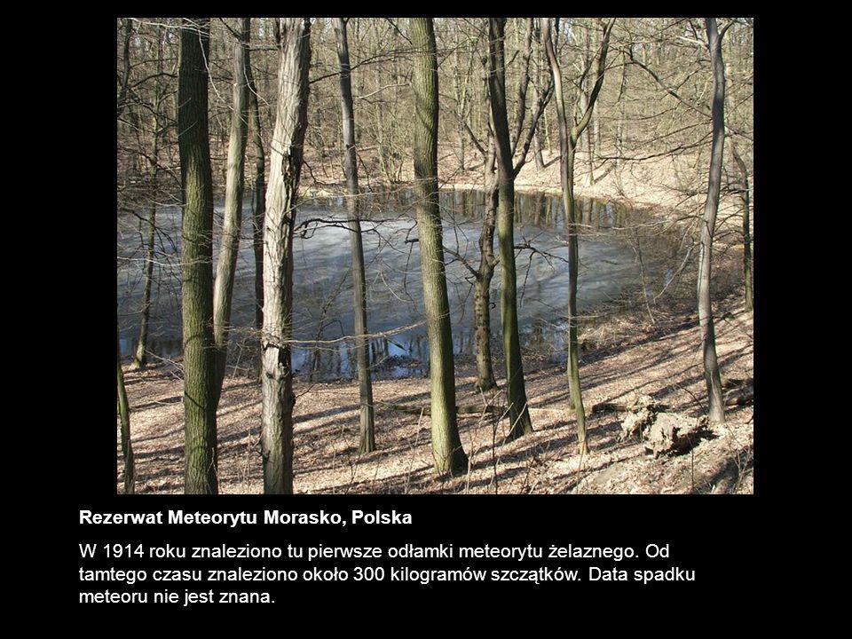 Rezerwat Meteorytu Morasko, Polska W 1914 roku znaleziono tu pierwsze odłamki meteorytu żelaznego. Od tamtego czasu znaleziono około 300 kilogramów sz
