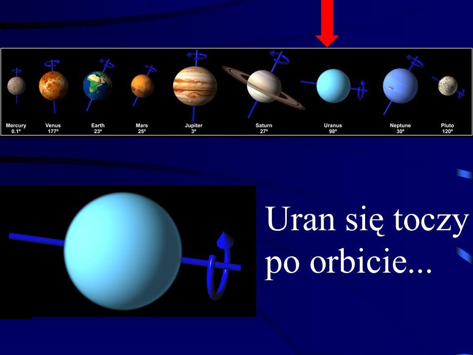 Uran jest 4 razy większy od Ziemi, a jego masa 14,5 razy większa od Ziemi