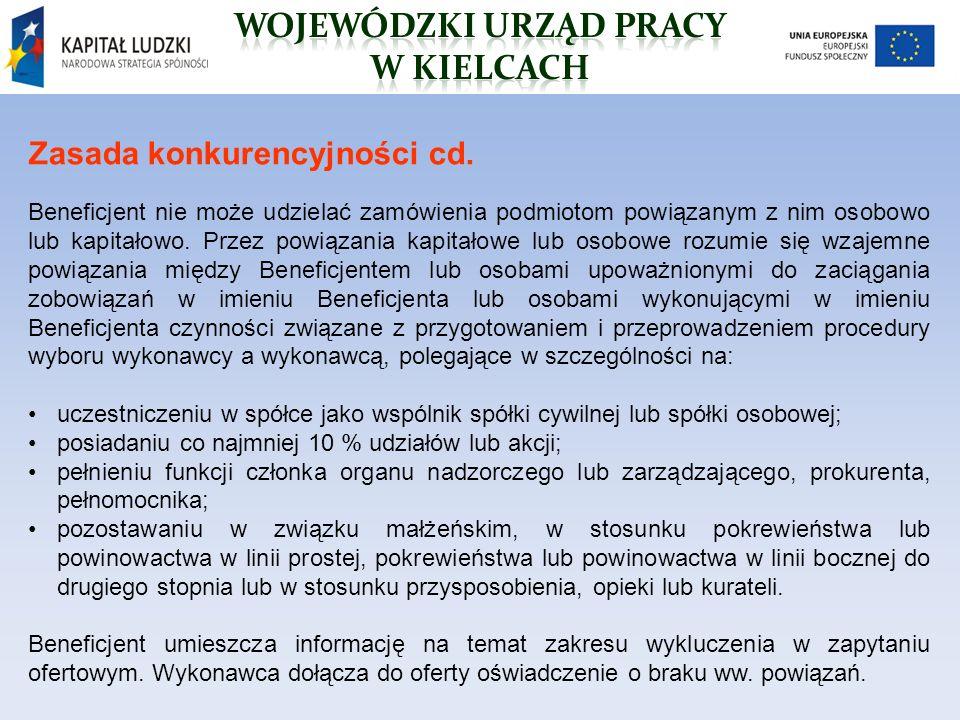 Zasada konkurencyjności cd.