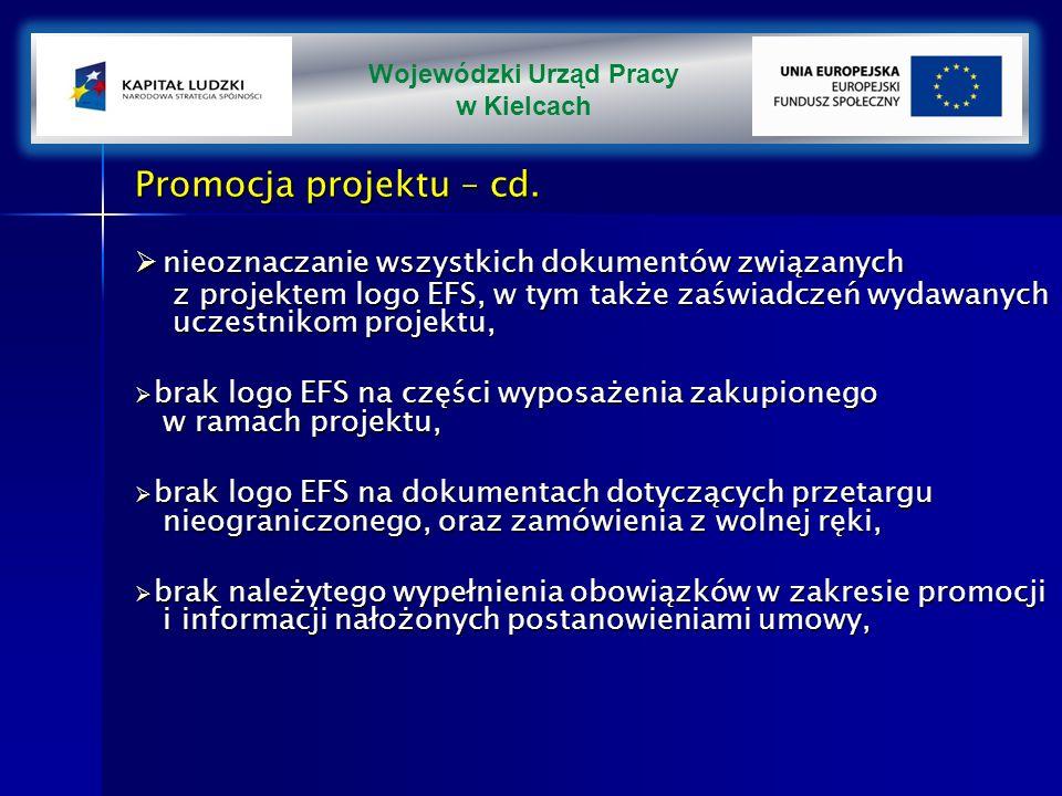 Promocja projektu – cd.