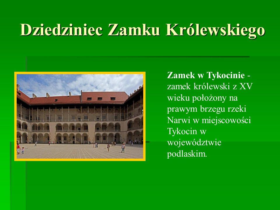 Dziedziniec Zamku Królewskiego Zamek w Tykocinie - zamek królewski z XV wieku położony na prawym brzegu rzeki Narwi w miejscowości Tykocin w województ