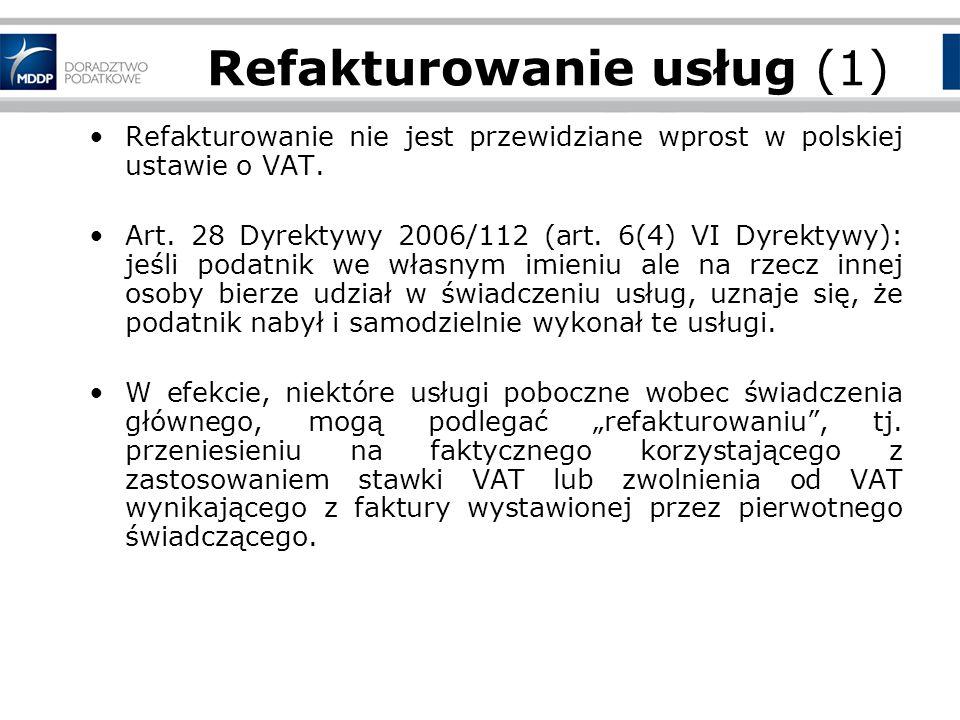 Faktury korygujące (2) przepis art.29 ust. 4a ustawy o VAT jest sprzeczny z prawem wspólnotowym.