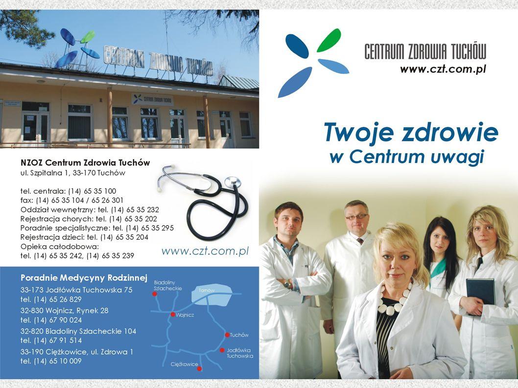 Ambasador Centrum Zdrowia Tuchów Centrum Zdrowia Tuchów współpracuje z liderami.