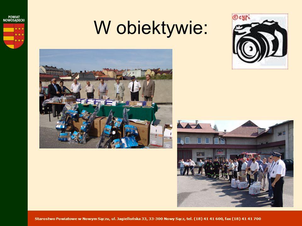 Starostwo Powiatowe w Nowym Sączu, ul. Jagiellońska 33, 33-300 Nowy Sącz, tel. (18) 41 41 600, fax (18) 41 41 700 W obiektywie: