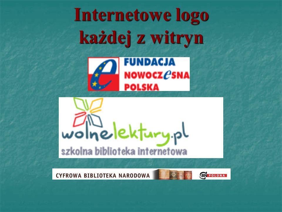 Internetowe logo każdej z witryn