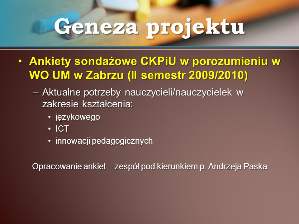 Ankiety sondażowe CKPiU w porozumieniu w WO UM w Zabrzu (II semestr 2009/2010)Ankiety sondażowe CKPiU w porozumieniu w WO UM w Zabrzu (II semestr 2009