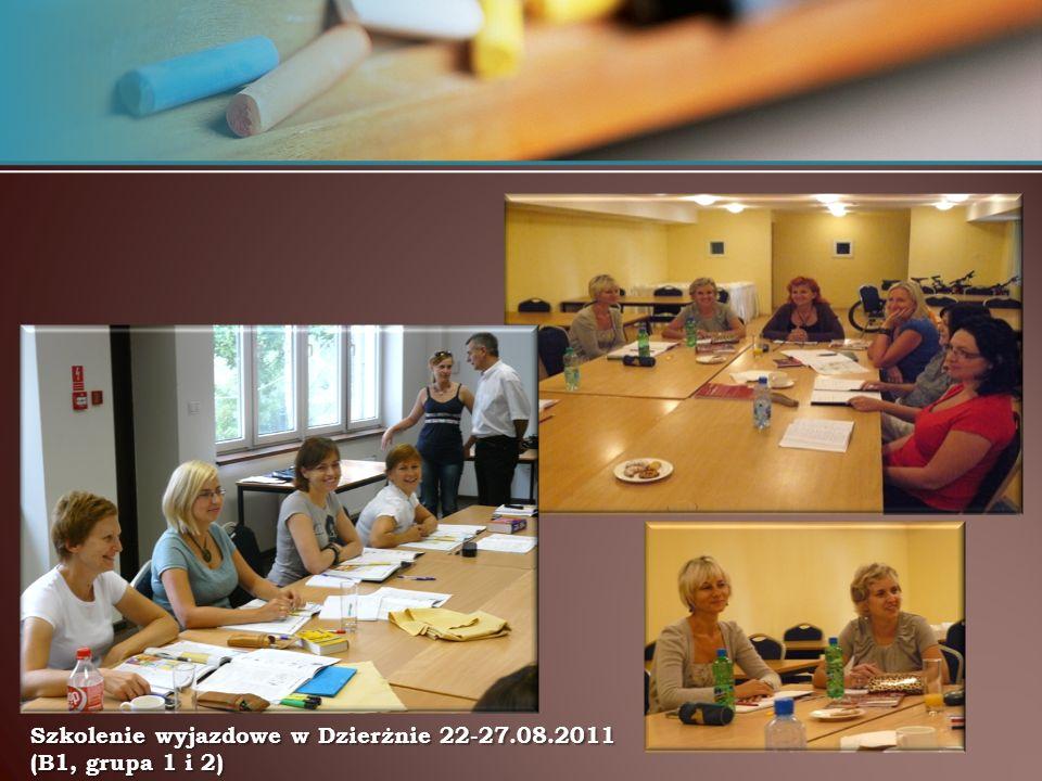 Szkolenie wyjazdowe w Dzierżnie 22-27.08.2011 (B1, grupa 1 i 2)